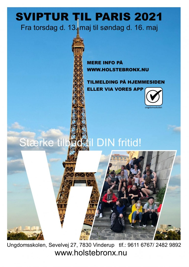 Sviptur til  Paris 2021. Plakat for turen i 2021